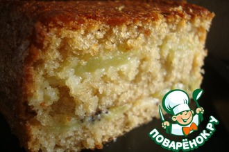 Рецепт: Слоеный фруктовый пирог-кекс