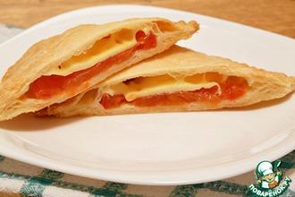 Рецепт: Слоеный пирог с луком и плавленым сыром