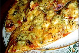 Рецепт: Пицца из «хрущевского теста»