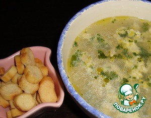 Суп куриный с кукурузой