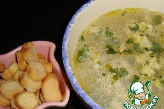 Рецепт: Суп куриный с кукурузой