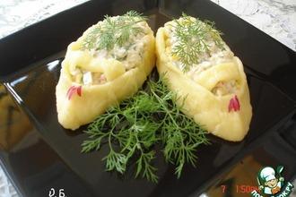Рецепт: Порционный салатик Башмачки