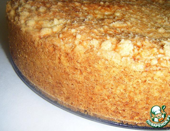 Рецепт: Творожно-абрикосово-маковый пирог