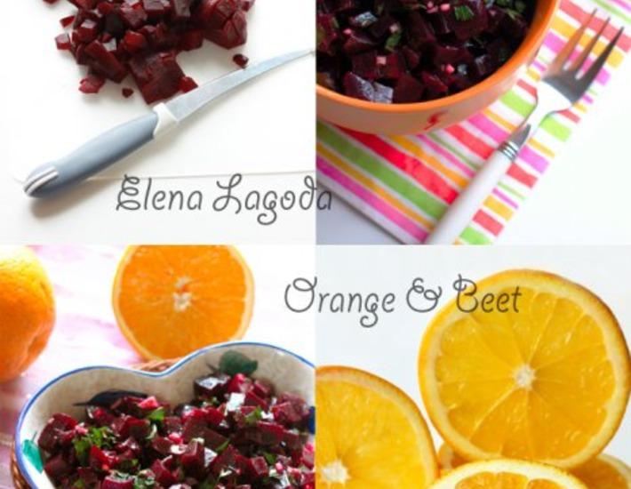 Рецепт: Итальянский свекольный салат с апельсиновой заправкой