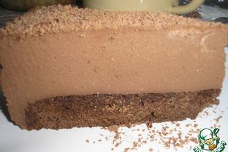 Рецепт: Торт с муссом из молочного шоколада