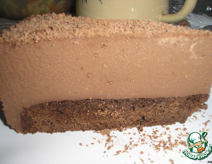 Торт с муссом из молочного шоколада – кулинарный рецепт