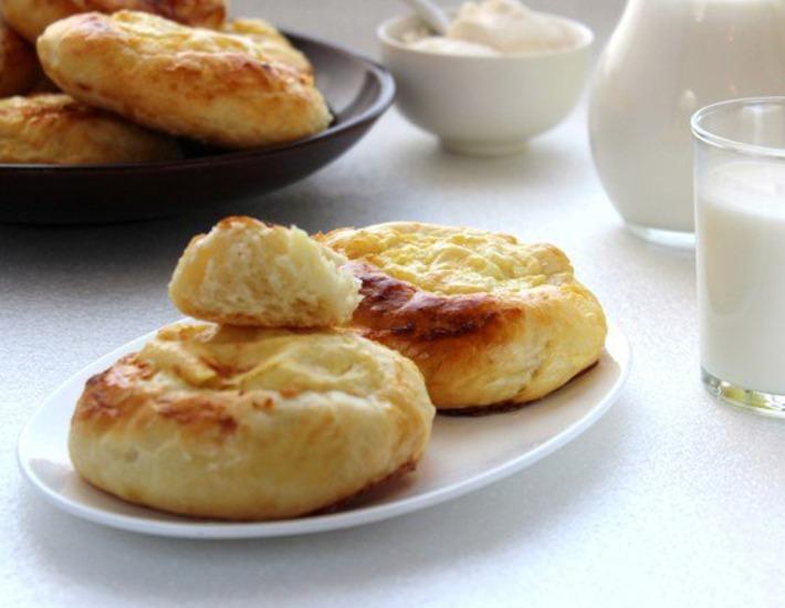Рецепт: Уральские шаньги с картофелем