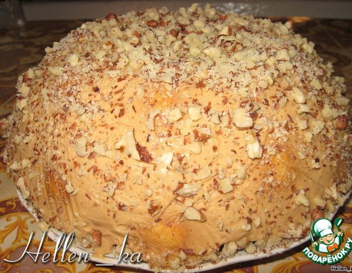 Рецепт: Торт медовый с грецкими орехами