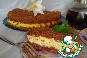 Рецепт: Творожный пирог Торфяной