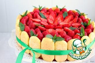 Рецепт: Клубничный торт Шарлотт