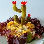 Салат Цветущий кактус