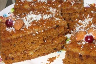 Рецепт: Пирожное Рыжий кот
