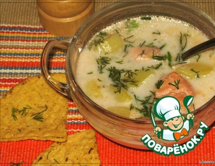 Рецепт: Финский сливочный рыбный суп