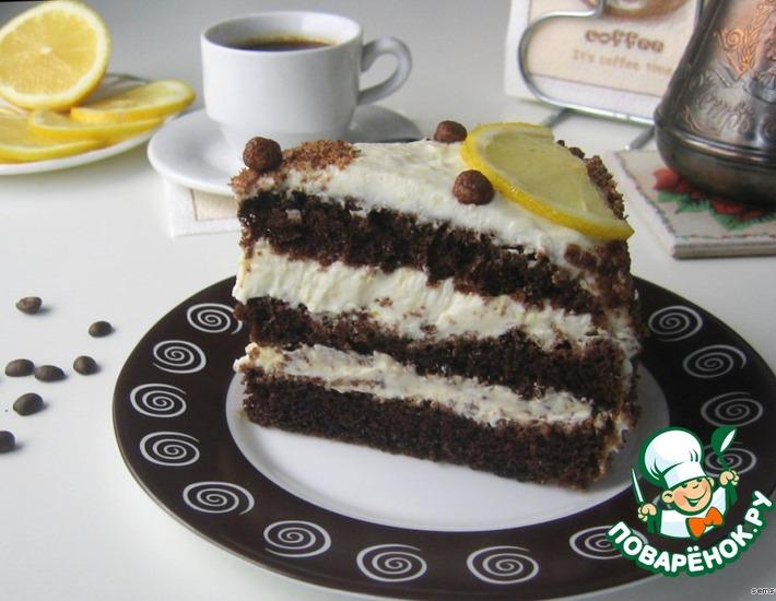 Рецепт: Творожный торт Кофе с лимоном