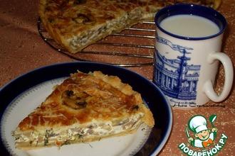 Рецепт: Киш с грибами и сыром