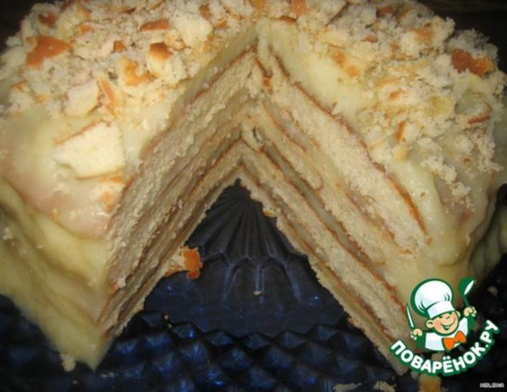 Рецепт: Творожный торт На сковороде