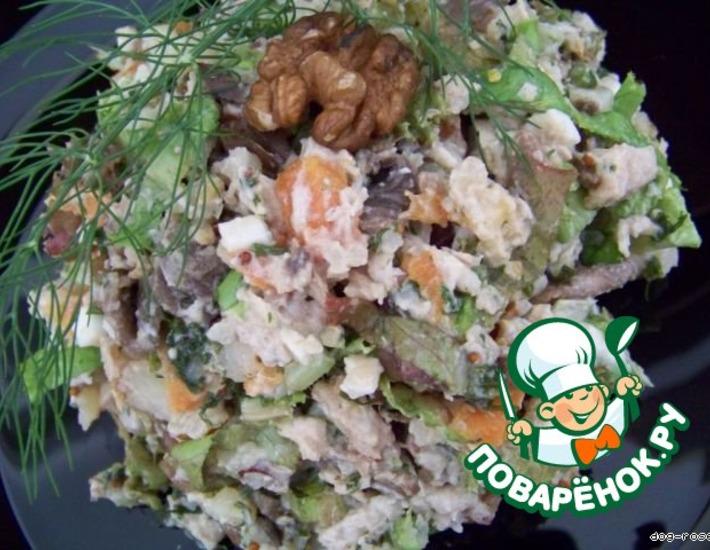 Рецепт: Салат Зеленый гребень