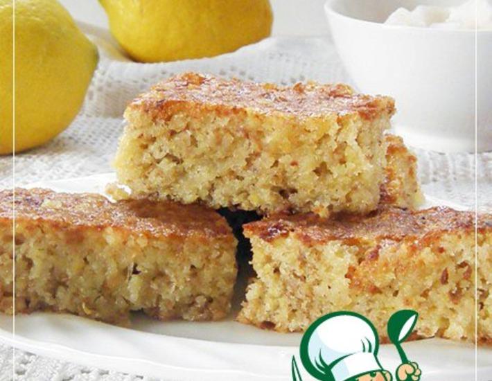 Рецепт: Лимонно-изюмный пирог