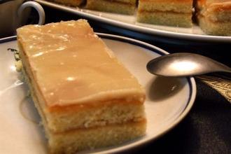 Рецепт: Пирожное Полоска с фруктовой помадкой