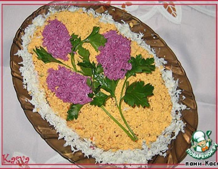 """Рецепт: Салат слоеный """"Сирень"""""""