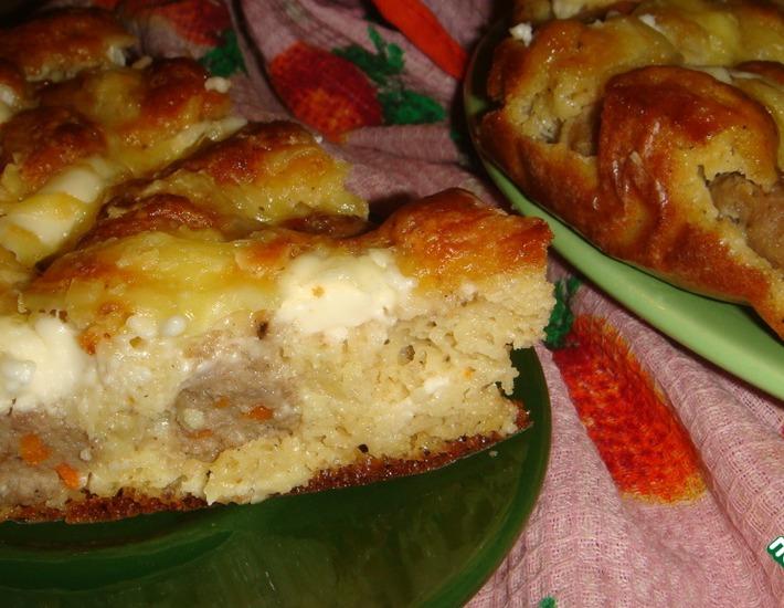 Рецепт: Пирог с фрикадельками