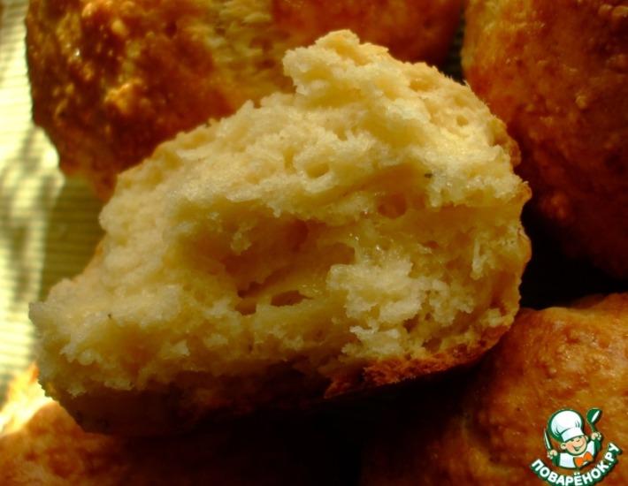 Рецепт: Булочки с сыром по мотивам сконов