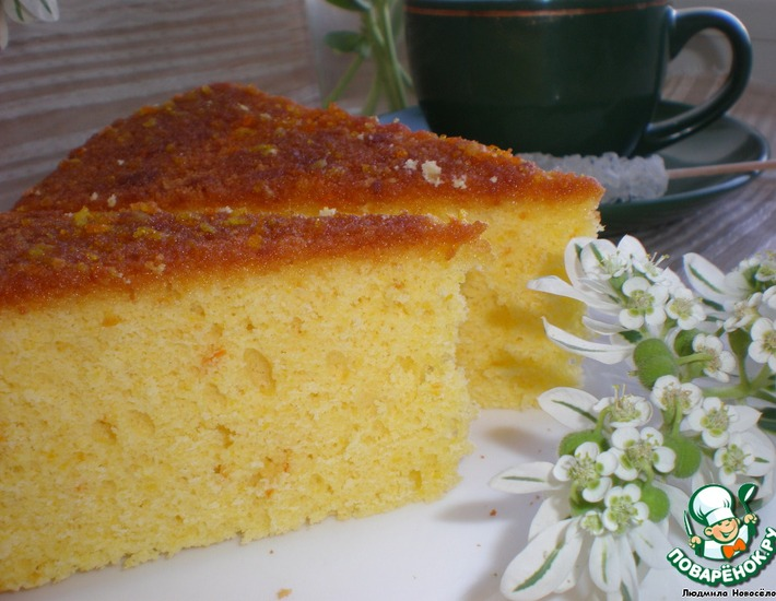 Рецепт: Апельсиновый бисквит Танжерин шиффон
