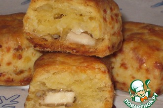 Рецепт: Печенье сырное с начинкой