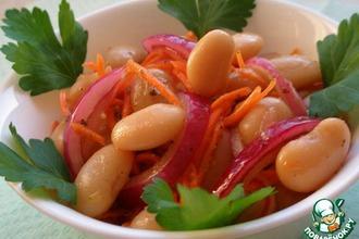 Рецепт: Салат из фасоли в азиатском стиле