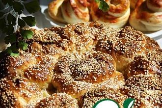 Рецепт: Английский хлеб с сыром и ветчиной