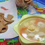 Суп с сырными ньокками
