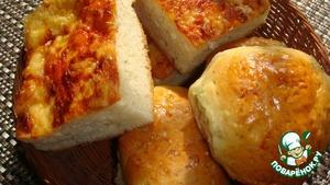 Рецепт Булочки с чесноком и лаваш с сыром