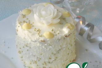 Рецепт: Пирожные Зимние цветы