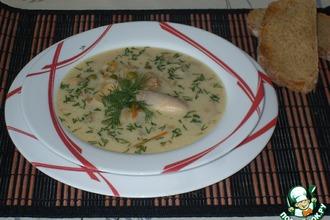 Рецепт: Сырный суп с шампиньонами