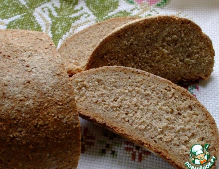Рецепт: Хлеб из ржаной муки грубого помола