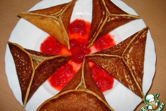 Рецепт: Арабские блинчики с яблоками
