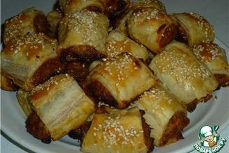 Рецепт: Закусочные пирожки с курино-луковой начинкой