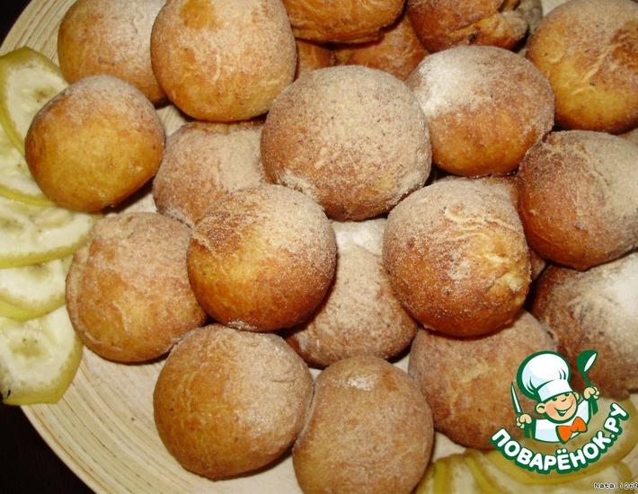 Рецепт: Пончики «Фруктовое нашествие»