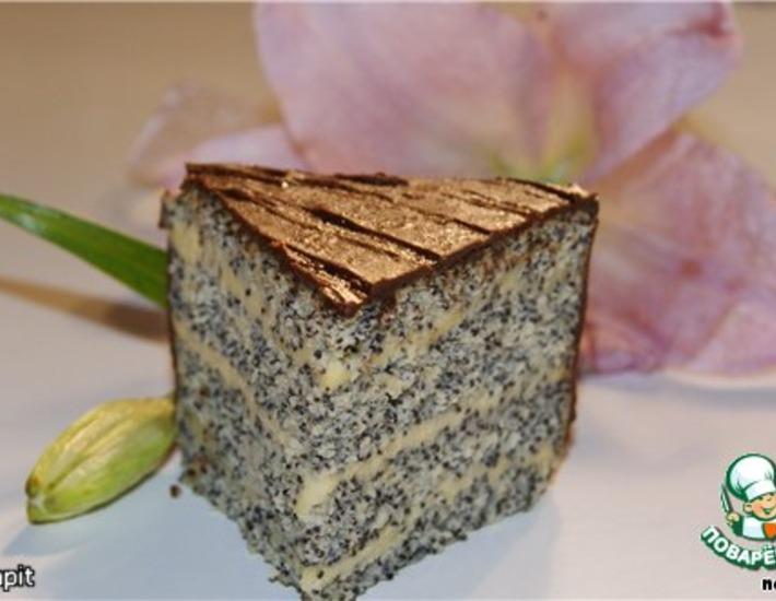 Рецепт: Нежный маковый торт