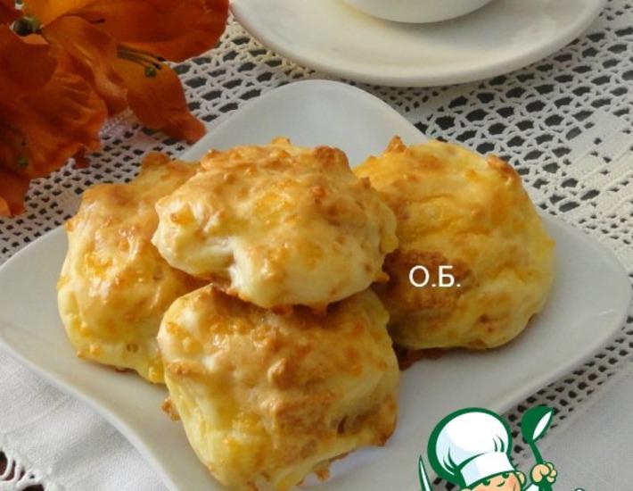 Рецепт: Сырные оладьи с хлопьями