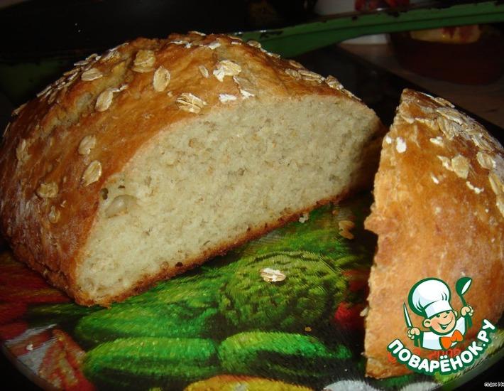Рецепт: Английский овсяный хлеб