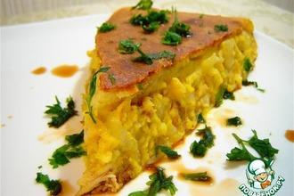Рецепт: Нежный куриный пирог с кукурузой