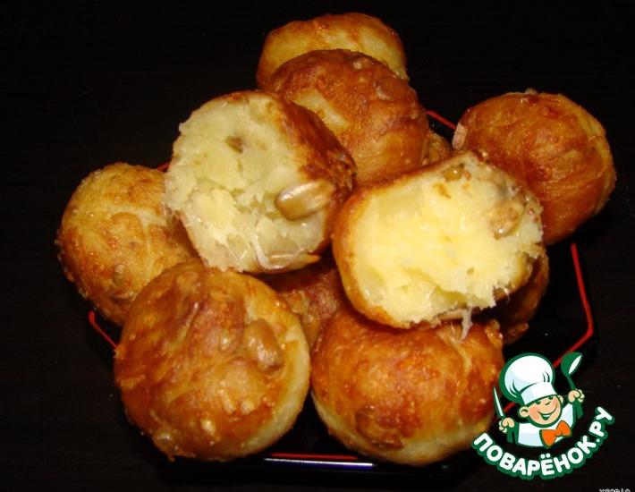 Рецепт: Сырные шарики с семечками