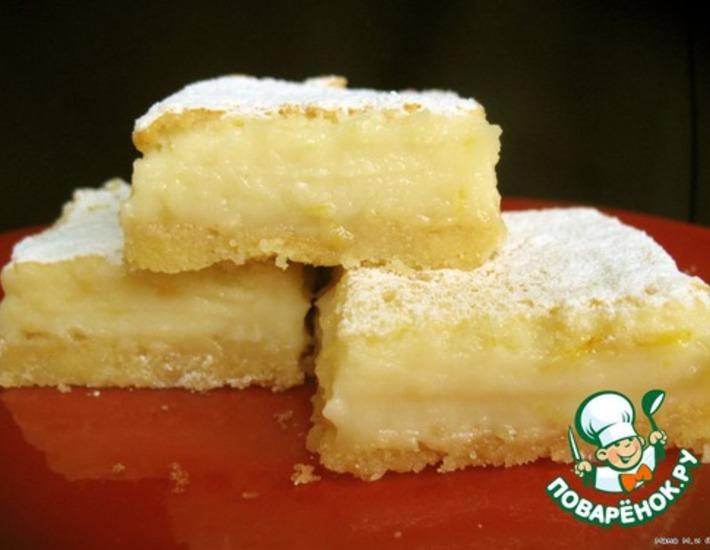 """Рецепт: Пирожные """"Lemon Squares"""""""