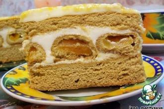 Рецепт: Торт Медовые соты