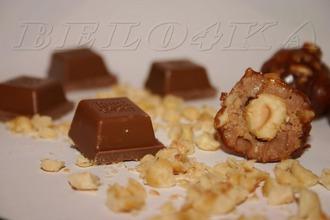 Рецепт: Конфеты Шоколадно-ореховое безумие