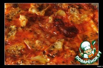 Рецепт: Пицца 4 сезона