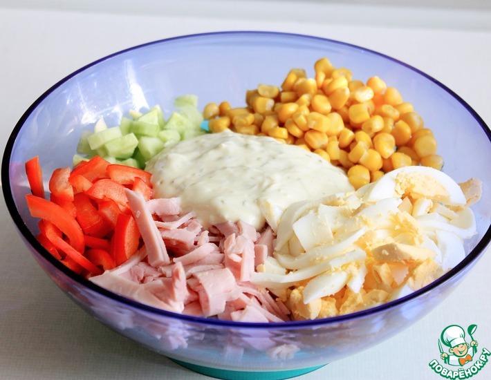 Рецепт: Низкокалорийная заправка для салата
