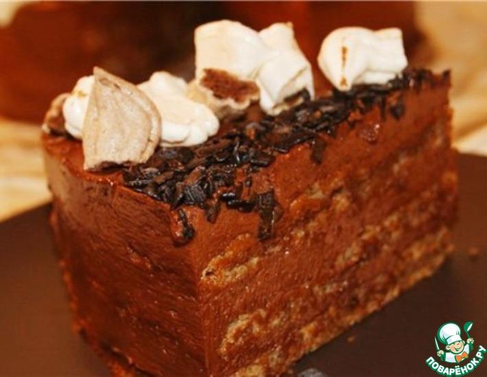 Рецепт: Шоколадно-ореховый торт