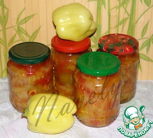Рецепт Консервированные баклажаны с овощами